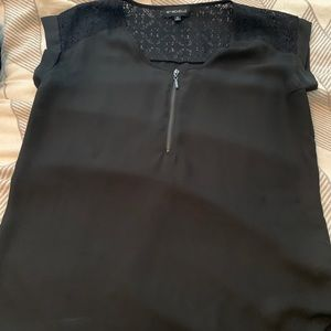 Black work blouse